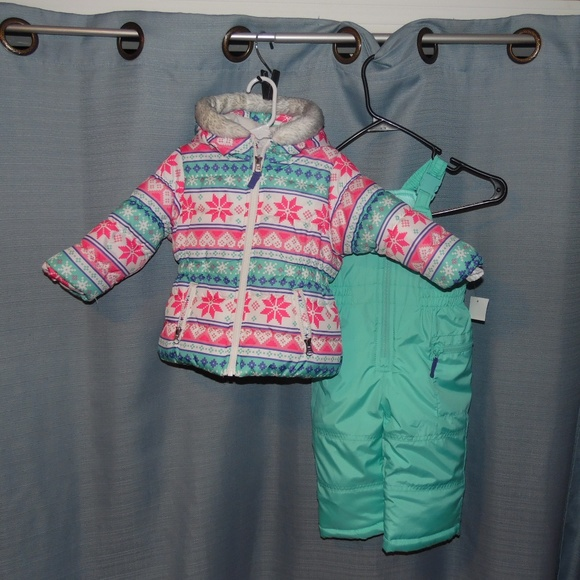 7887af529 Carter's Jackets & Coats | Carters Baby Girl 2pc Snow Suit Size 18 ...